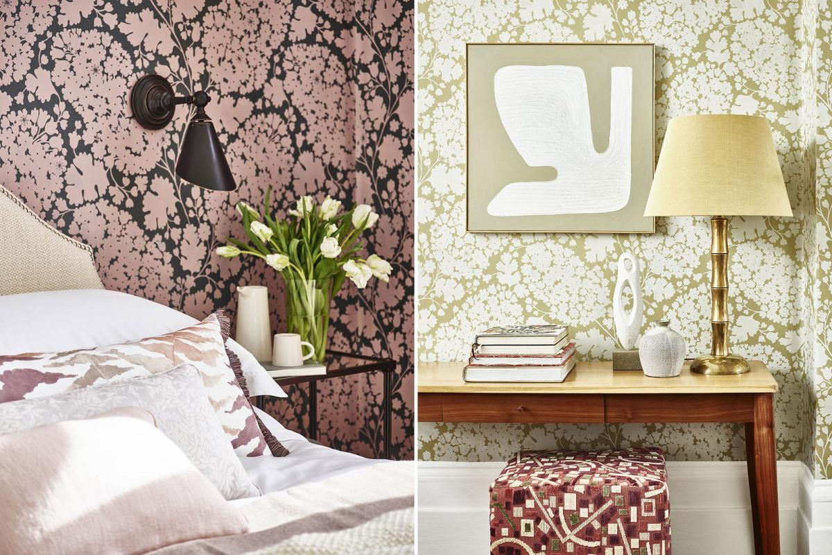 Charleston Paisley wallpaper by George Spencer Designs - luxury wallcoverings for interior design projects