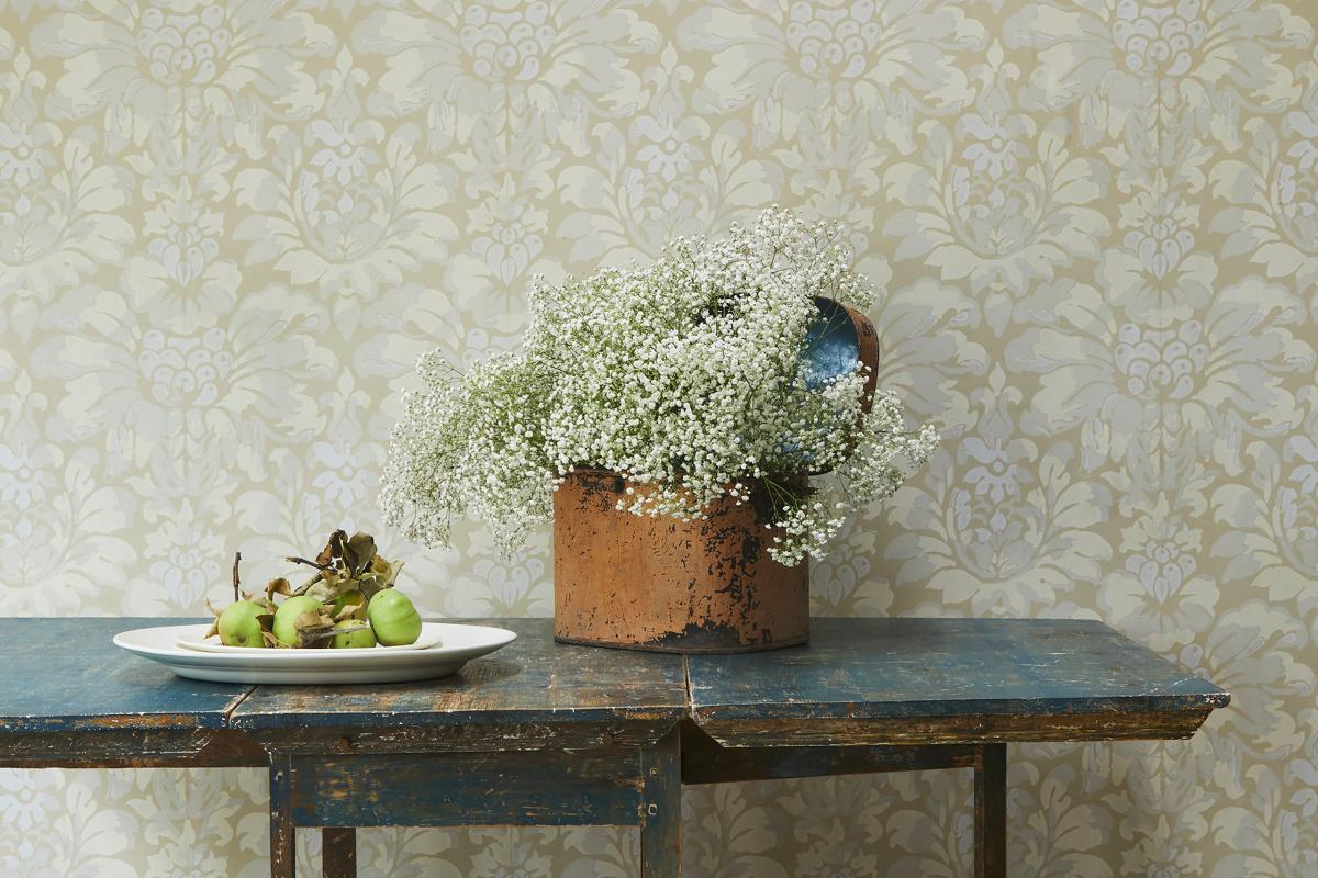 luxury hand block printed wallpaper for interior design projects
