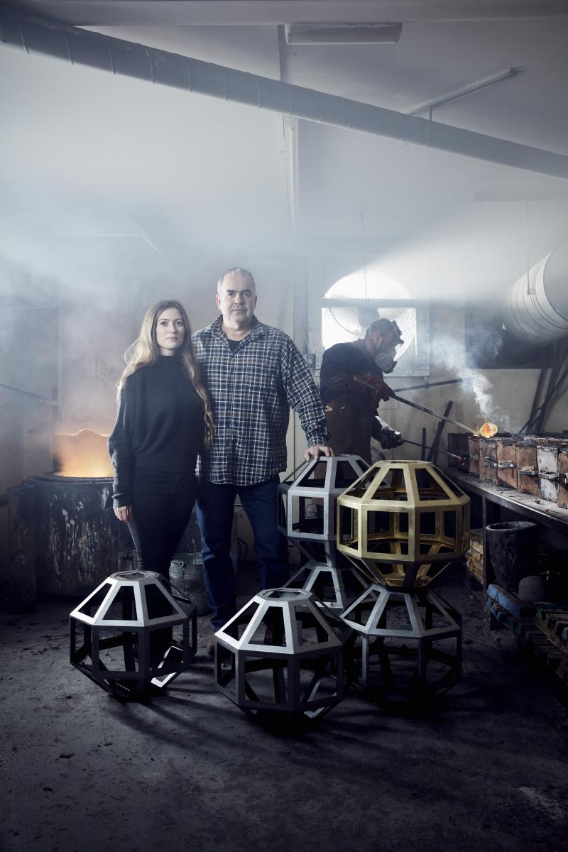 Danielle and Geoff Collier at Collier Webb South Coast Foundry